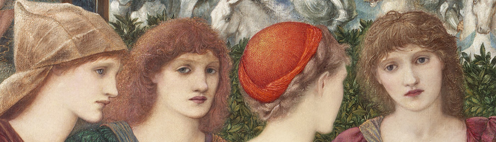 Edward Burne-Jones (1833-1898), 'Laus Veneris' ('In Praise of Venus'), 1873-75, The Laing Art Gallery, Newcastle-upon-Tyne, detail