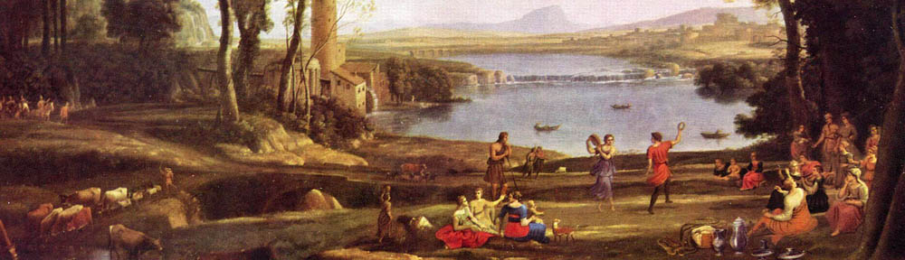 Claude Lorrain (1600-1682, born Gellée), 'Marriage of Isaac and Rebekah', 1648, detail