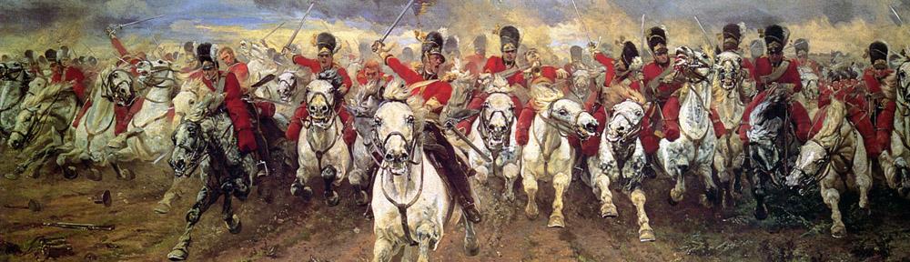 Elizabeth Butler (1846-1933), 'Scotland_Forever!', 1881, Leeds Art Gallery, detail