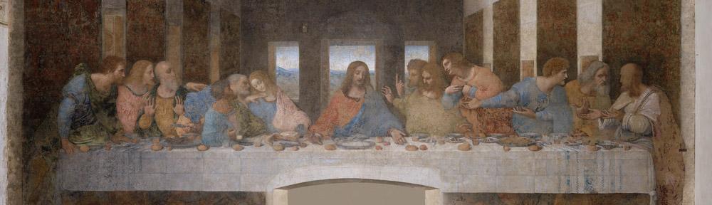 Leonardo da Vinci (1452-1519), 'The Last_Supper', 1494, Santa Maria delle Grazie, Milan, detail