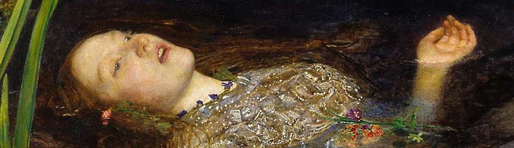 John Everett Millais (1829-1896), 'Ophelia', 1851-52, Tate, detail