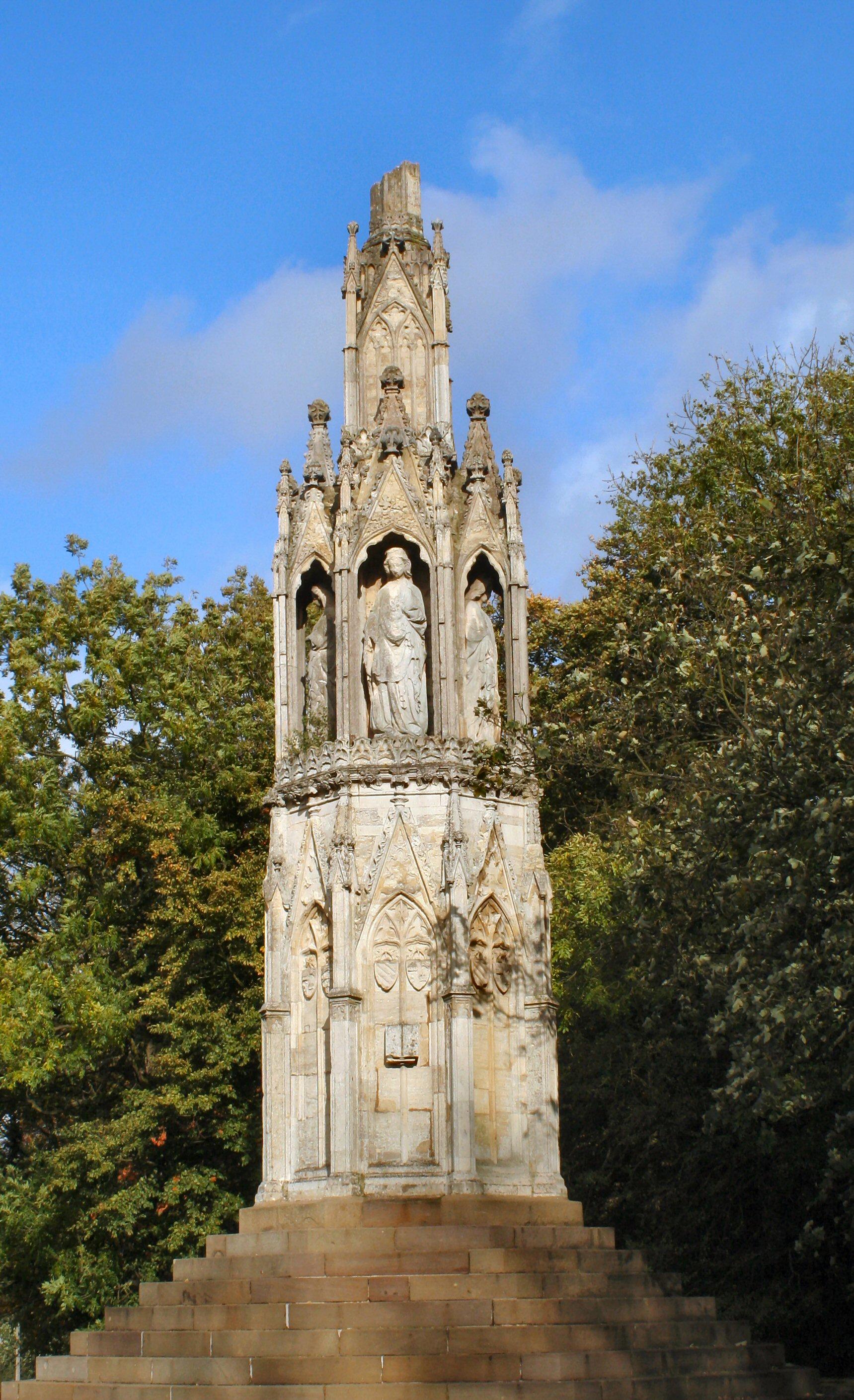 Queen Eleanor Cross, Hardingstone; picture taken (c) by R Neil Marshman 28 October 2005