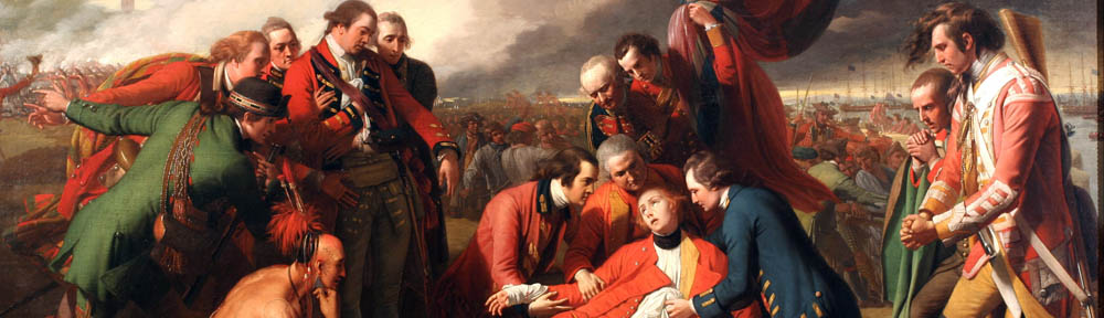 Benjamin West (1738-1820), 'The Death of General Wolfe', 1770, National Gallery of Canada, detail