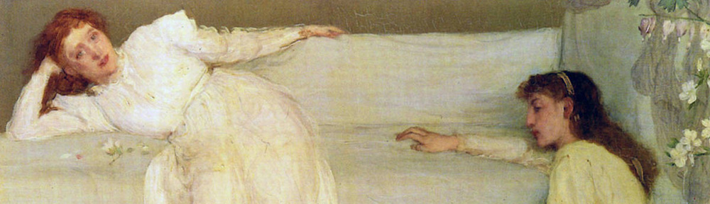 James Abbott McNeill Whistler (1834-1903), 'Symphony in White, No. 3', 1865-67, Barber Institute of Fine Arts, Birmingham, detail