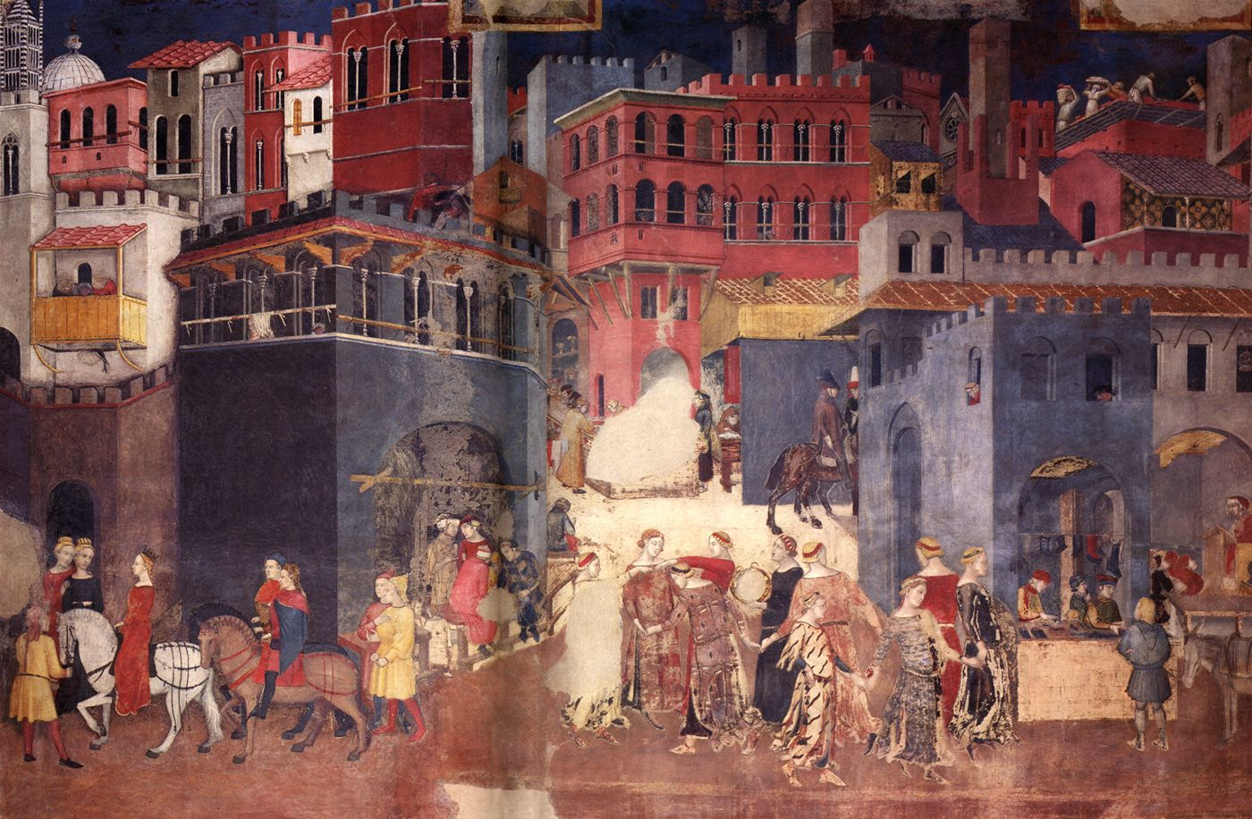 Ambrogio_Lorenzetti_Good_Government_town_1338-9