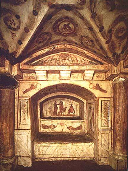 Arcosolium_in_Cubiculum_Via_Latina_Catacomb_c320