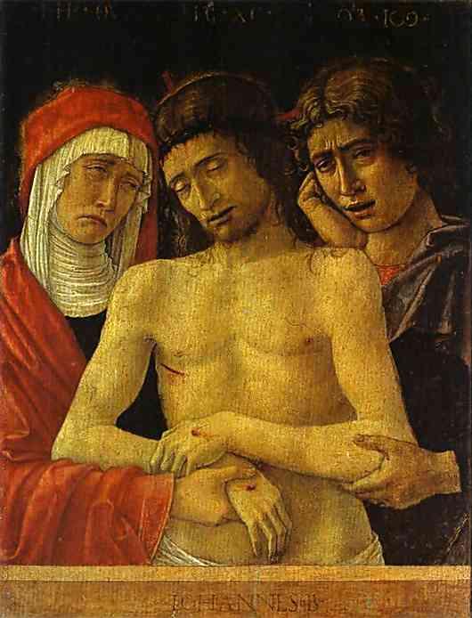 Piet�. c. 1455-60. Wood panel, 52x42 cm. Academia Carrara, Bergamo, Italy