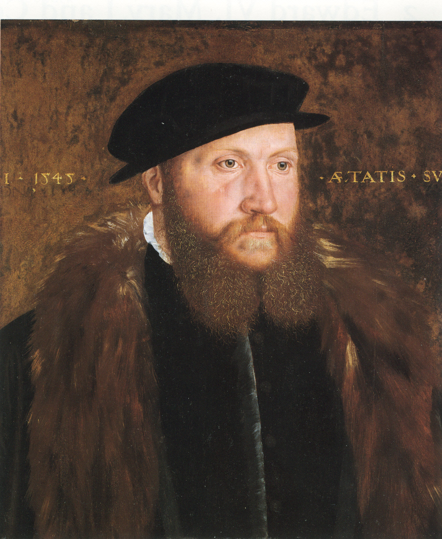 John Bettes, An Unknown Man in a Black Cap, 1545