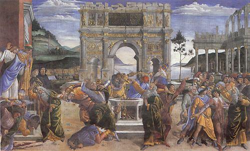 Botticelli_Punishment_of_Korah_1481