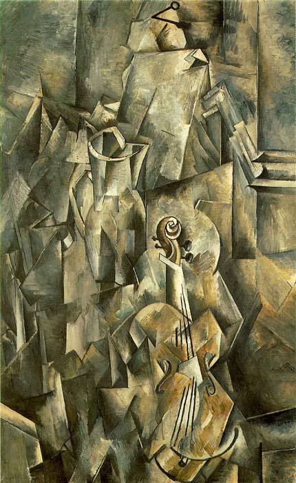 Braque_Still-Life_with_Violin_and_Pitcher_1910