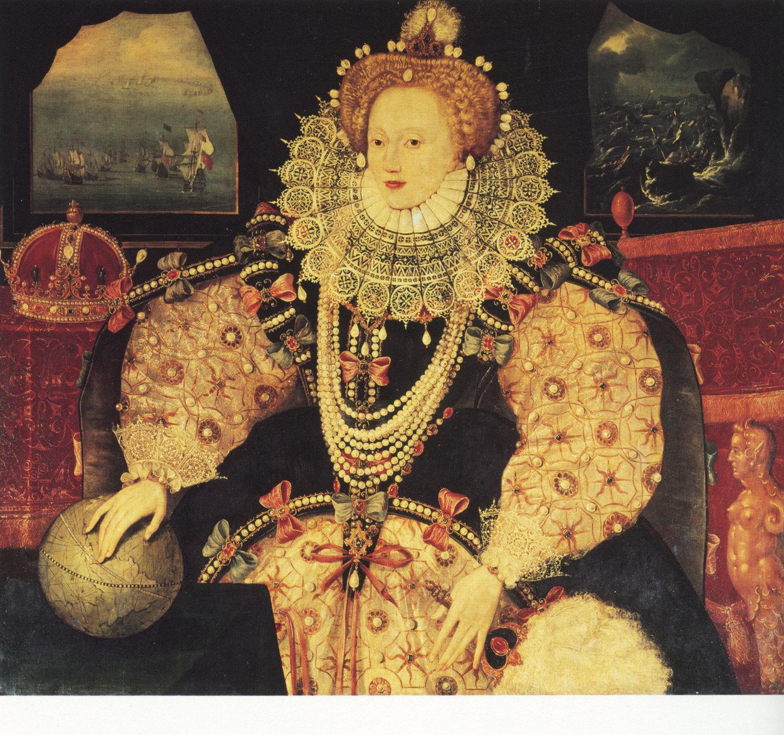 British School Elizabeth I The Armada Portrait c1588