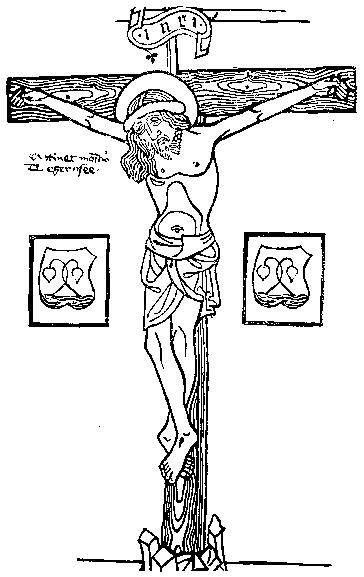 Christ Pity medieval woodcut