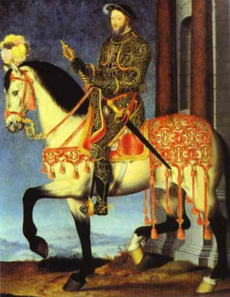 Clouet Francis I on Hourseback c1540