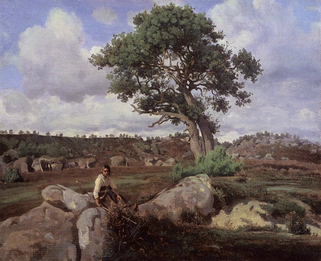 Corot_Fontainebleu_The_Raging_One_1830