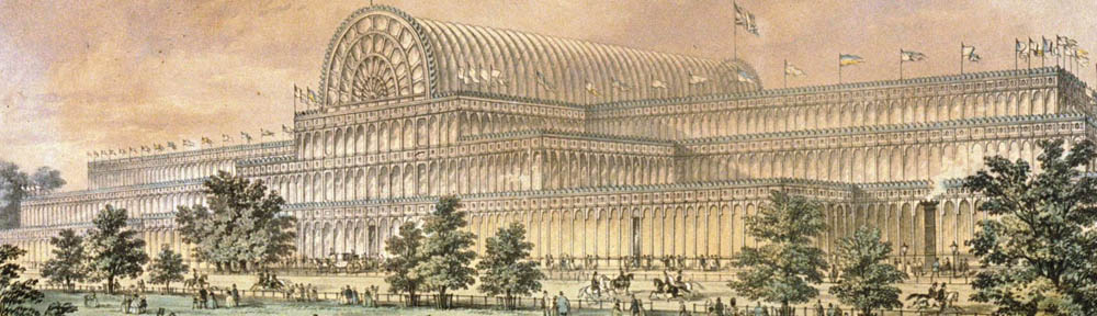 Crystal Palace Exterior, Hyde Park, 1851, designed by Joseph Paxton (1803-1865)