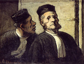 Daumier_The_Two_Lawyers_1862-64