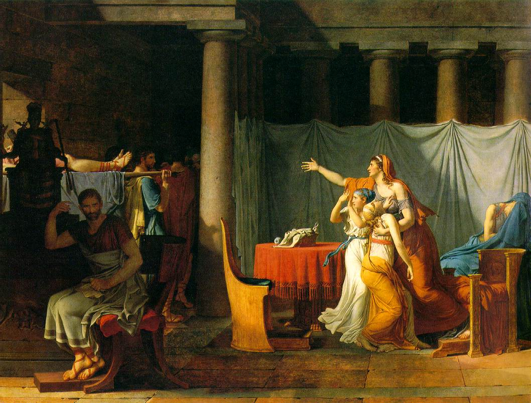 david s oath of the horatii and gericault s raft of the medusa
