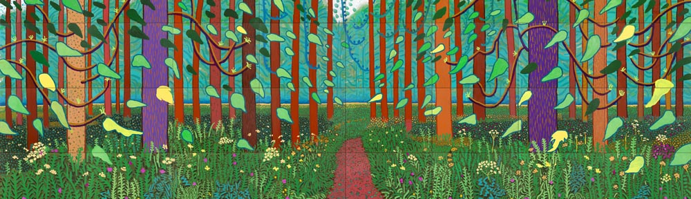 David Hockney (b. 1937), 'Arrival of Spring', 2011, detail