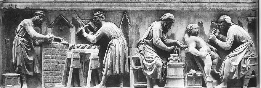 di_Banco_Quattro_Santi_predella_Sculptors_at_Work
