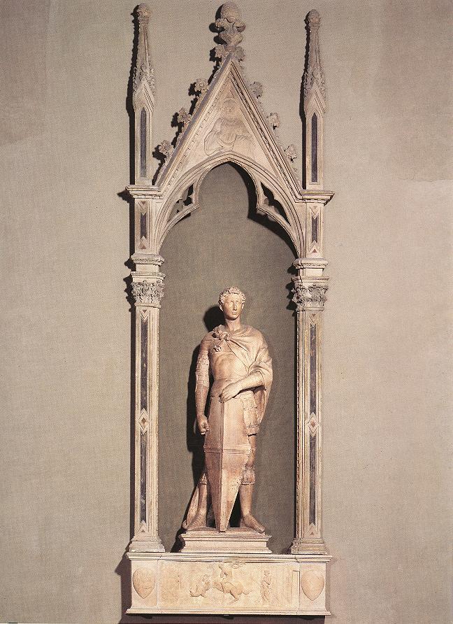 Donatello St George 1416 marble