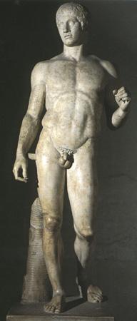 Doryphoros_Polyclitus_Roman_copy_450-440BC