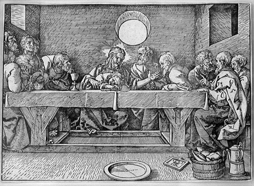 Durer_Last_Supper_woodcut_1523