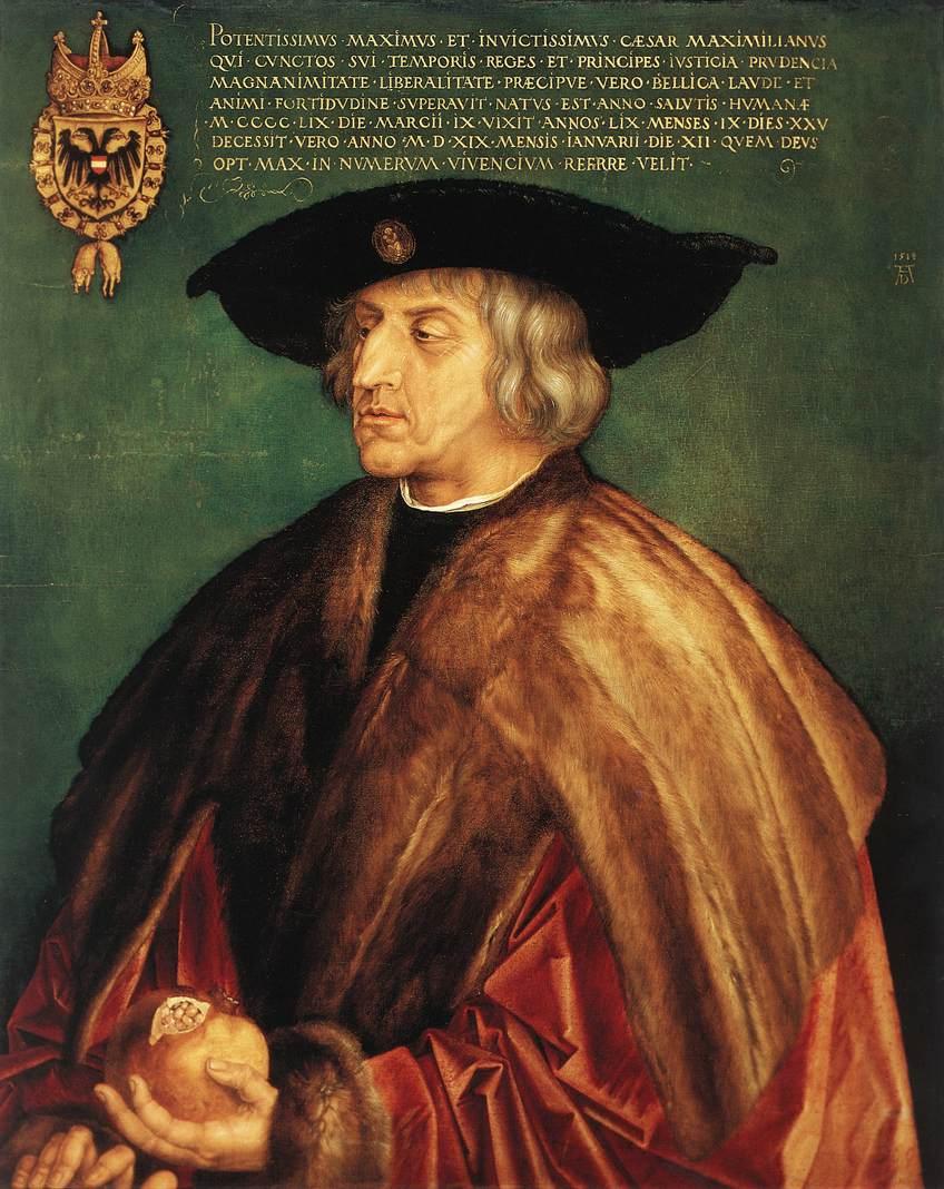Durer Maximillian 1519