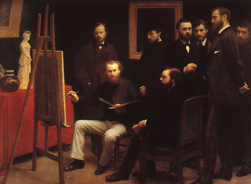 Fantin-Latour_An_Atelier_in_the_Batignolles_1870
