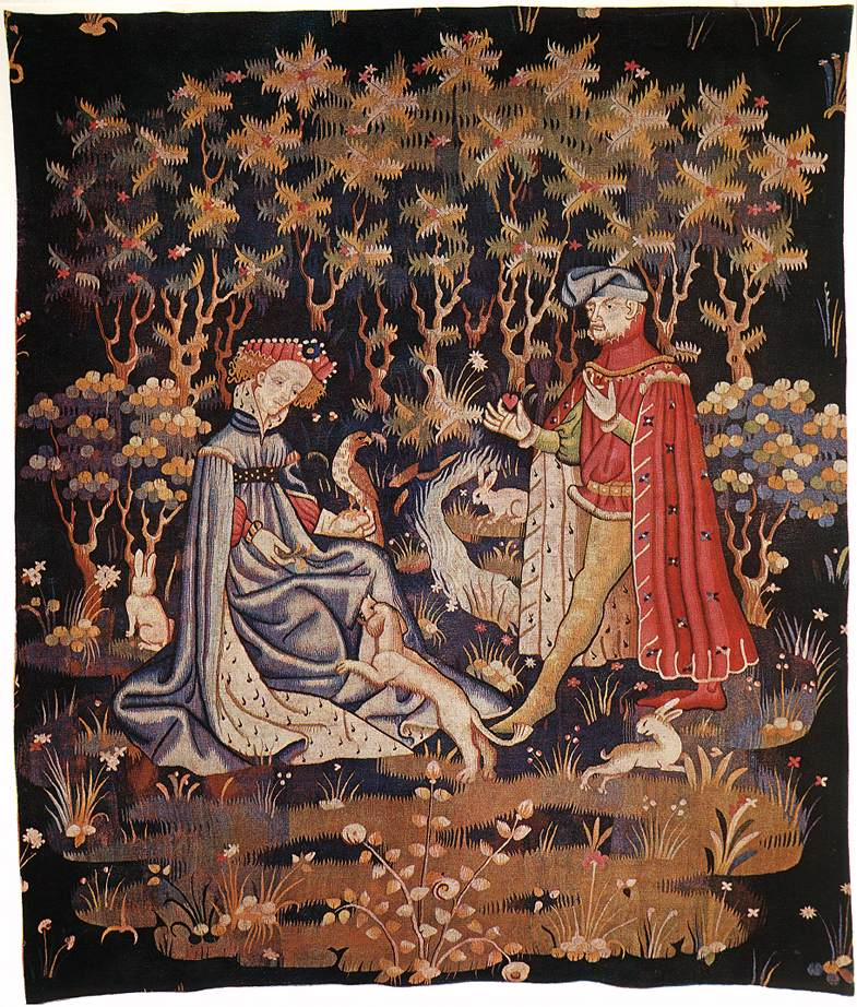 Flemish_tapestry_The_Offering_of_the_Heart_early_15thC