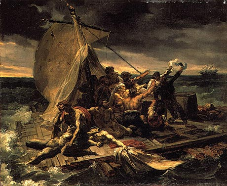 Gericault_First_sketch_for_the_Raft_of_the_Medusa_c1818-19