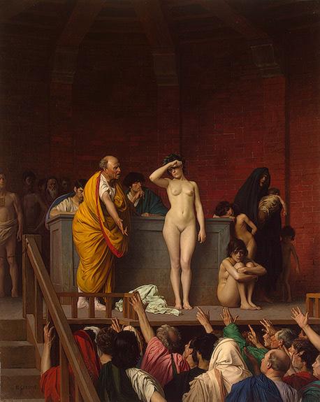 Gerome_Jean-Leon_The_Slave_Market_in_Rome_c1884