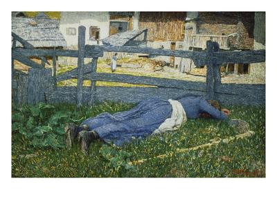 Segantini, Rest in the Shade, 1892