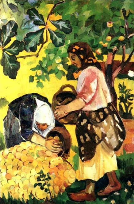 Goncharova_The_Fruit_Harvest_1909