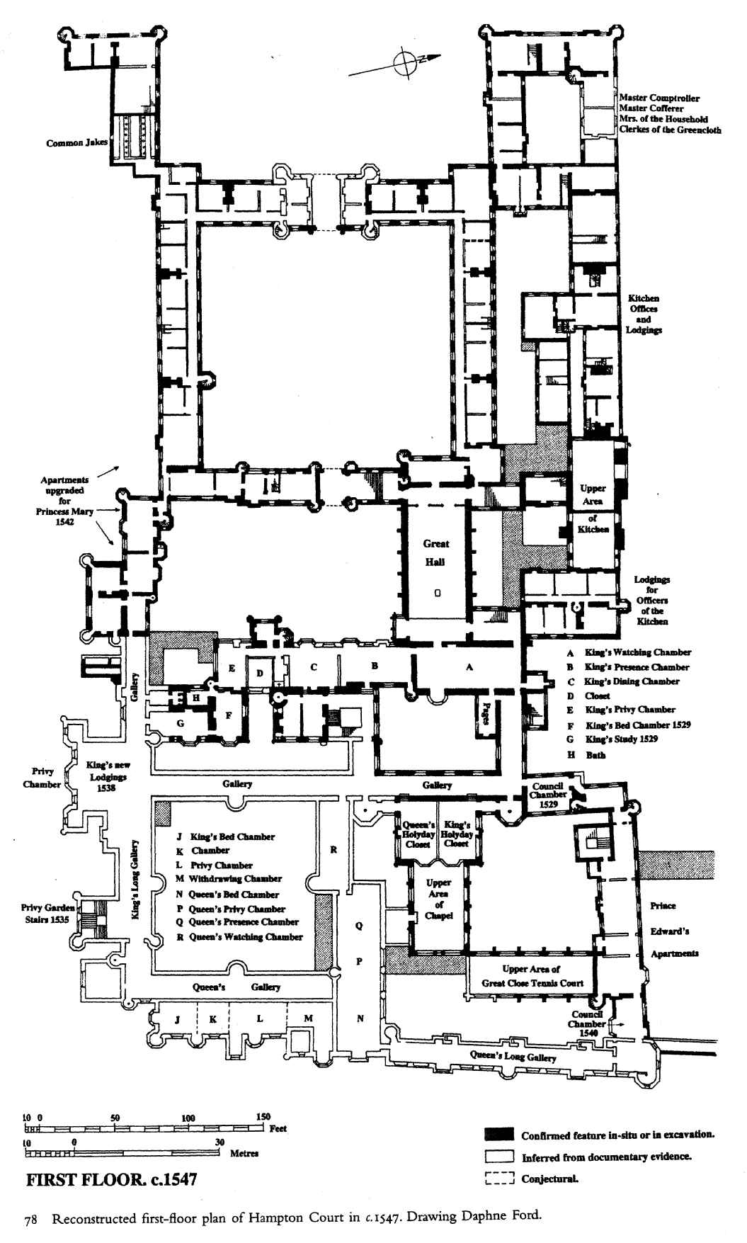 Hampton Court plan c1547