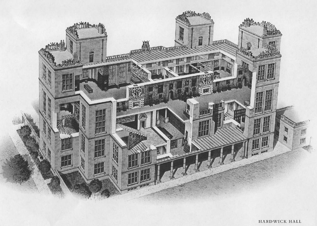 Hardwick Hall, cross-section