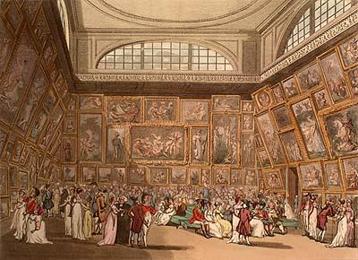 Hill_after_Rowlandson_and_Pugin_Exhibition_Room_Somerset_House_1808