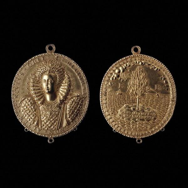 Hilliard Elizabeth I Gold Medallion 1580-90
