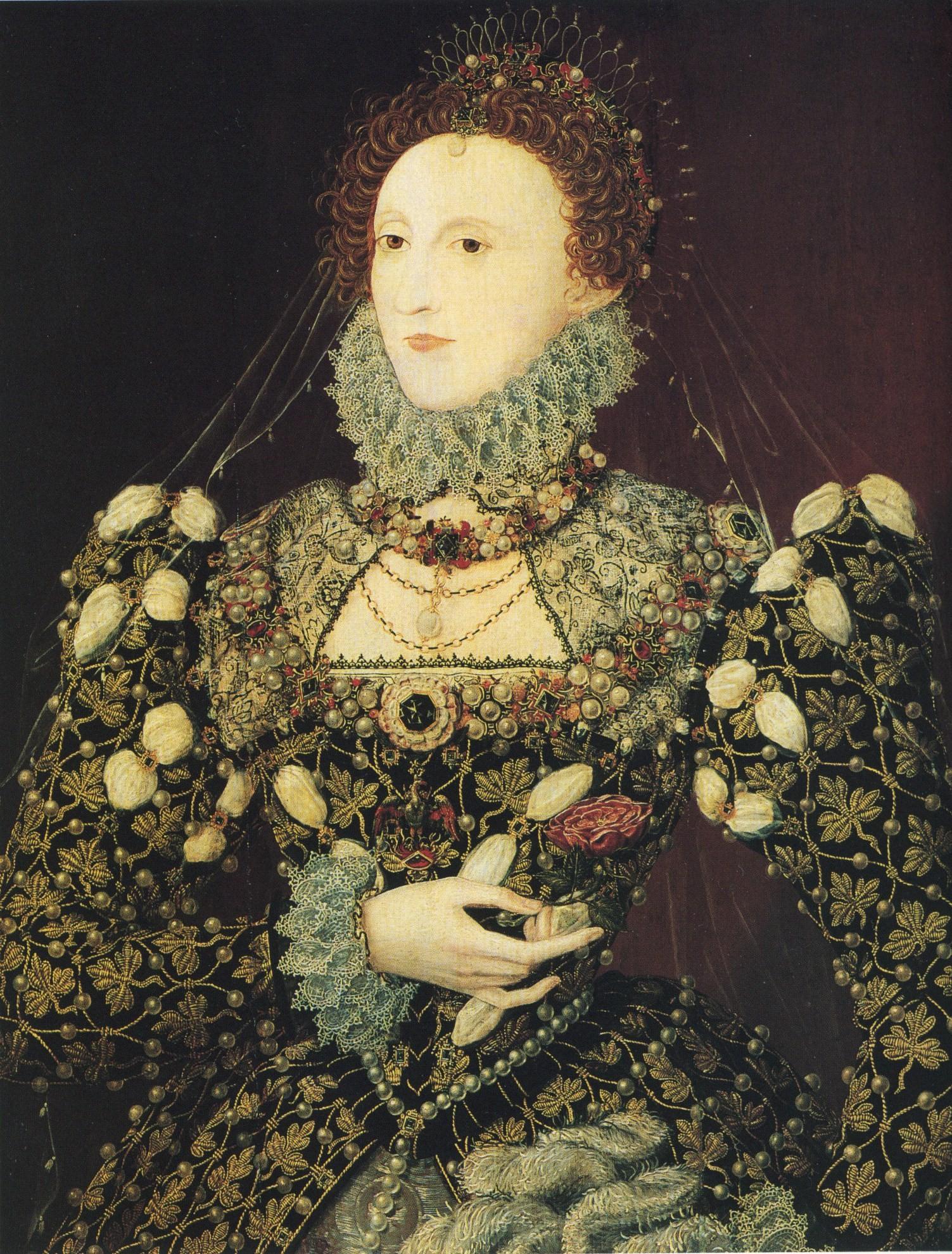Hilliard Elizabeth I the Phoenix Portrait c1575-6