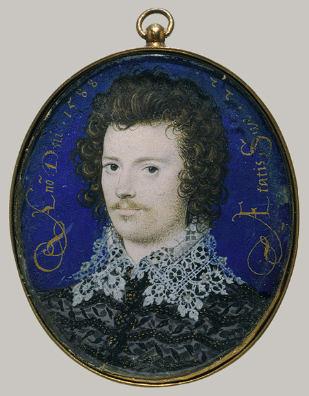 Hilliard Portrait of a Young Man 1588