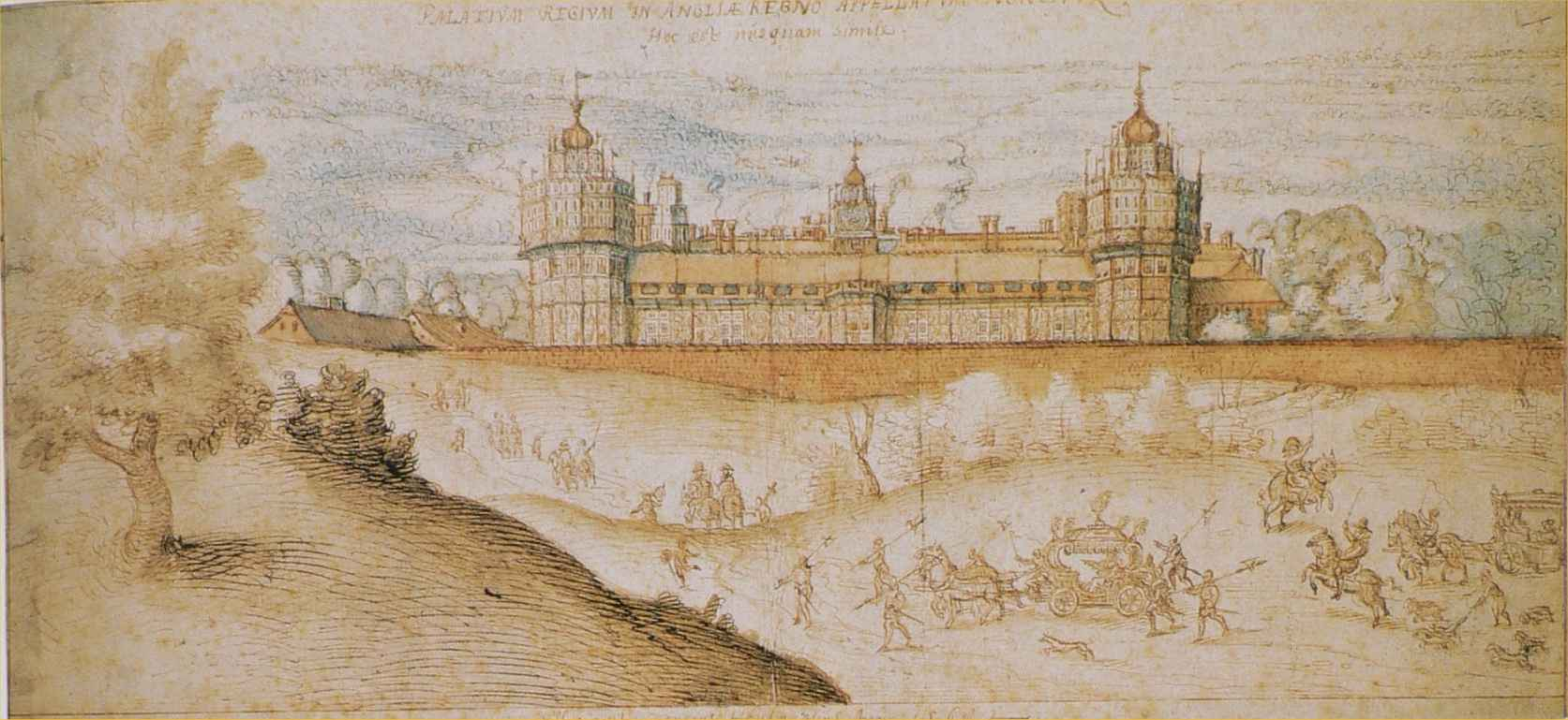 Hoefnagel Nonsuch Palace c1568