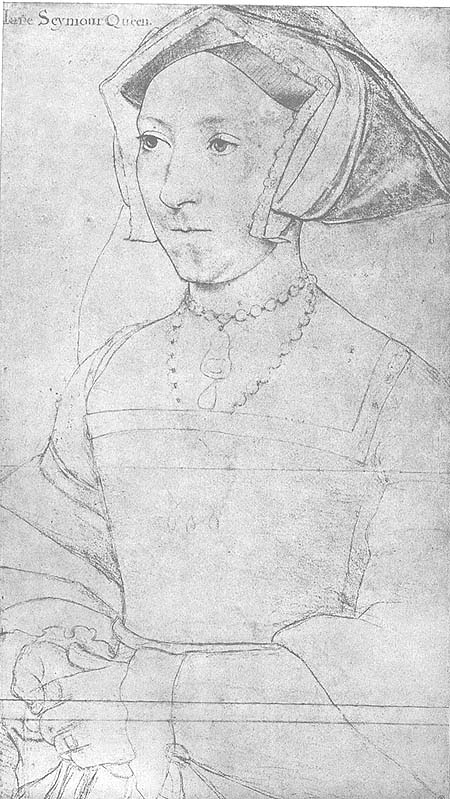 Holbein Jane Seymour c1536 drawing