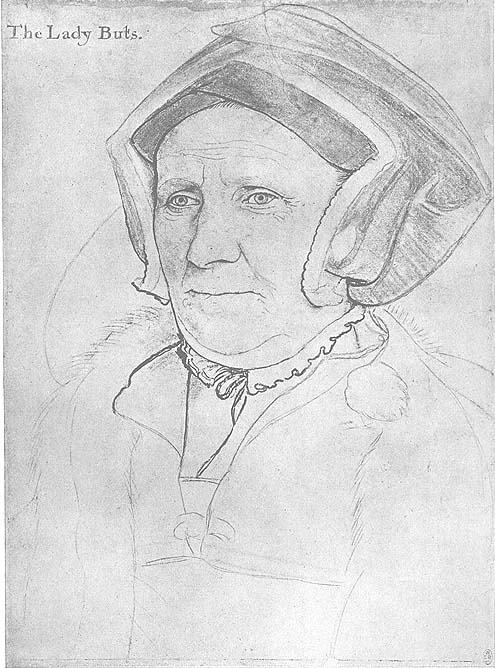 Holbein Lady Butts drawing
