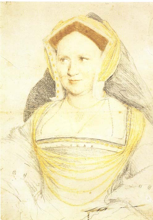 Holbein Lady Guildford 1527 drawing