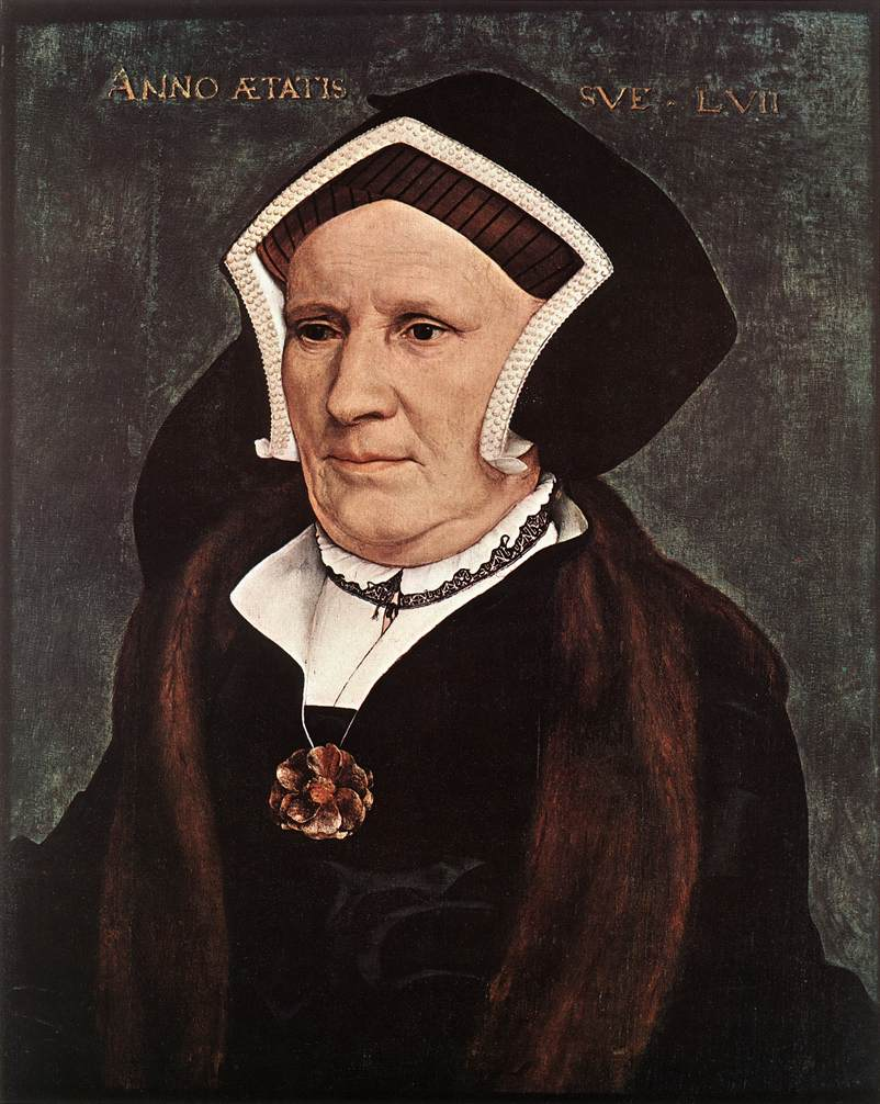 Holbein Portrait of Lady Margaret Butts 1543