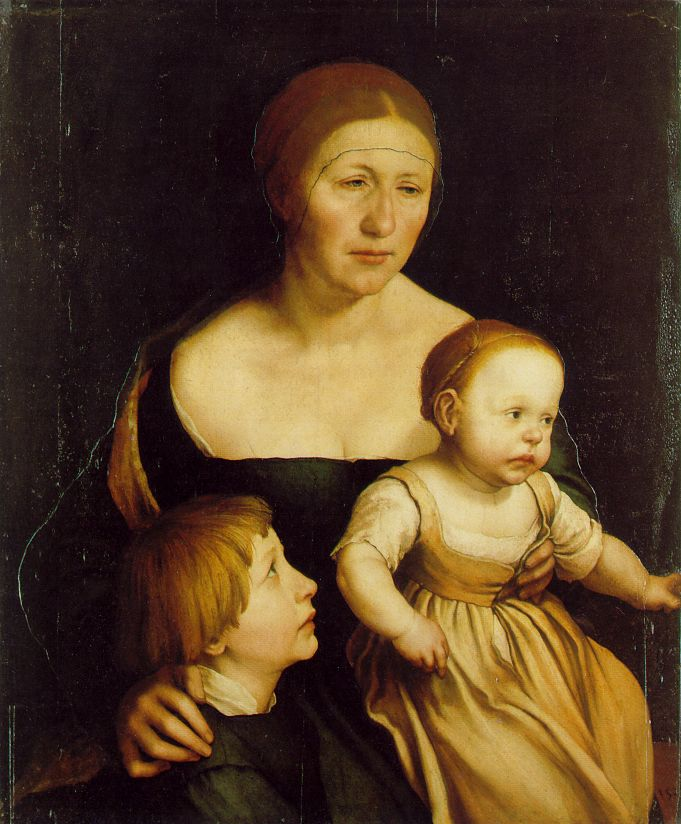 Holbein The Artists Wife 1528