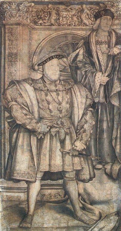 Holbein Whitehall mural 1537 cartoon