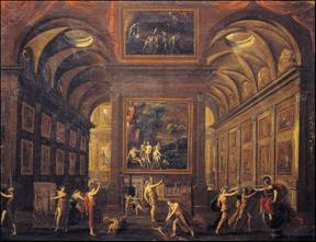 Allegory with the House of Muses by Alessandro Salucci
