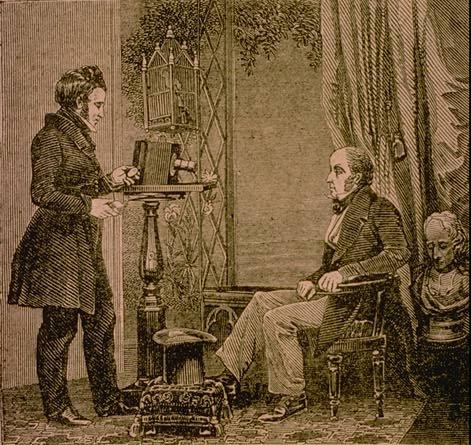 Jabez_Hogg_making_a_portrait_in_Richard_Beards_studio_Daguerreotype_1843