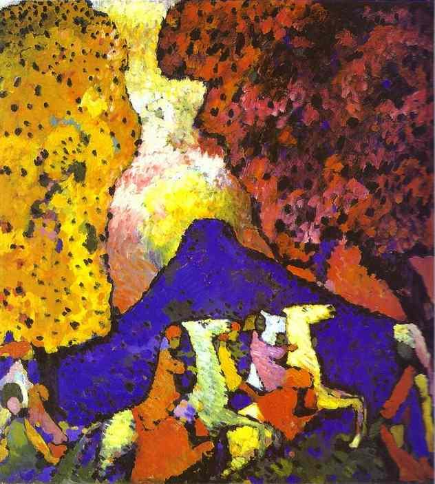 Kandinsky_The_Blue_Mountain_1908-09