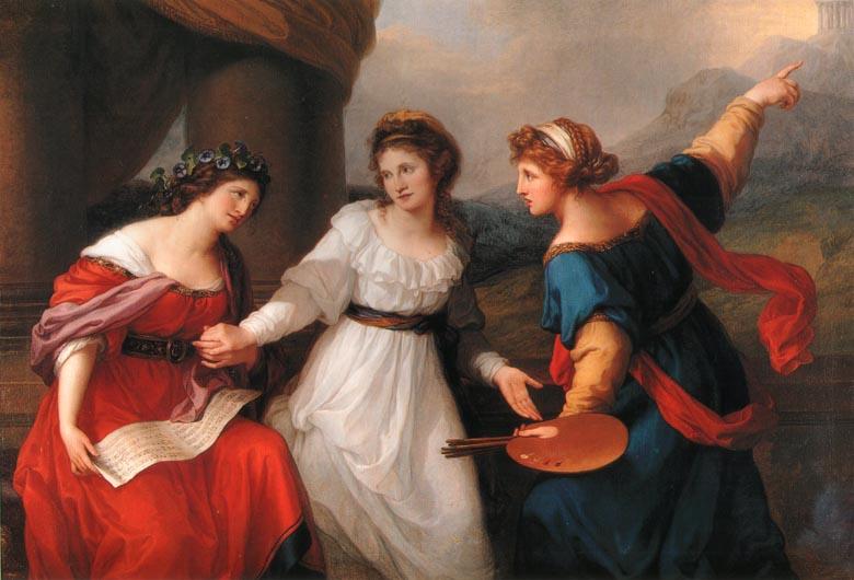 Kauffmann_Self-Portrait_Hesitating_Between_Painting_and_Music_1791